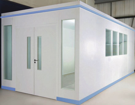 cleanroom partitioning for mezzanines