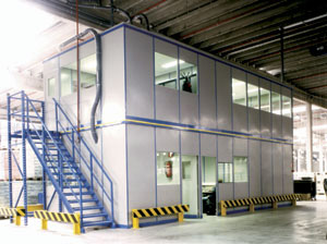 steel partitioning for mezzanine flooring